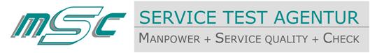 MSC Service Test Agentur Logo